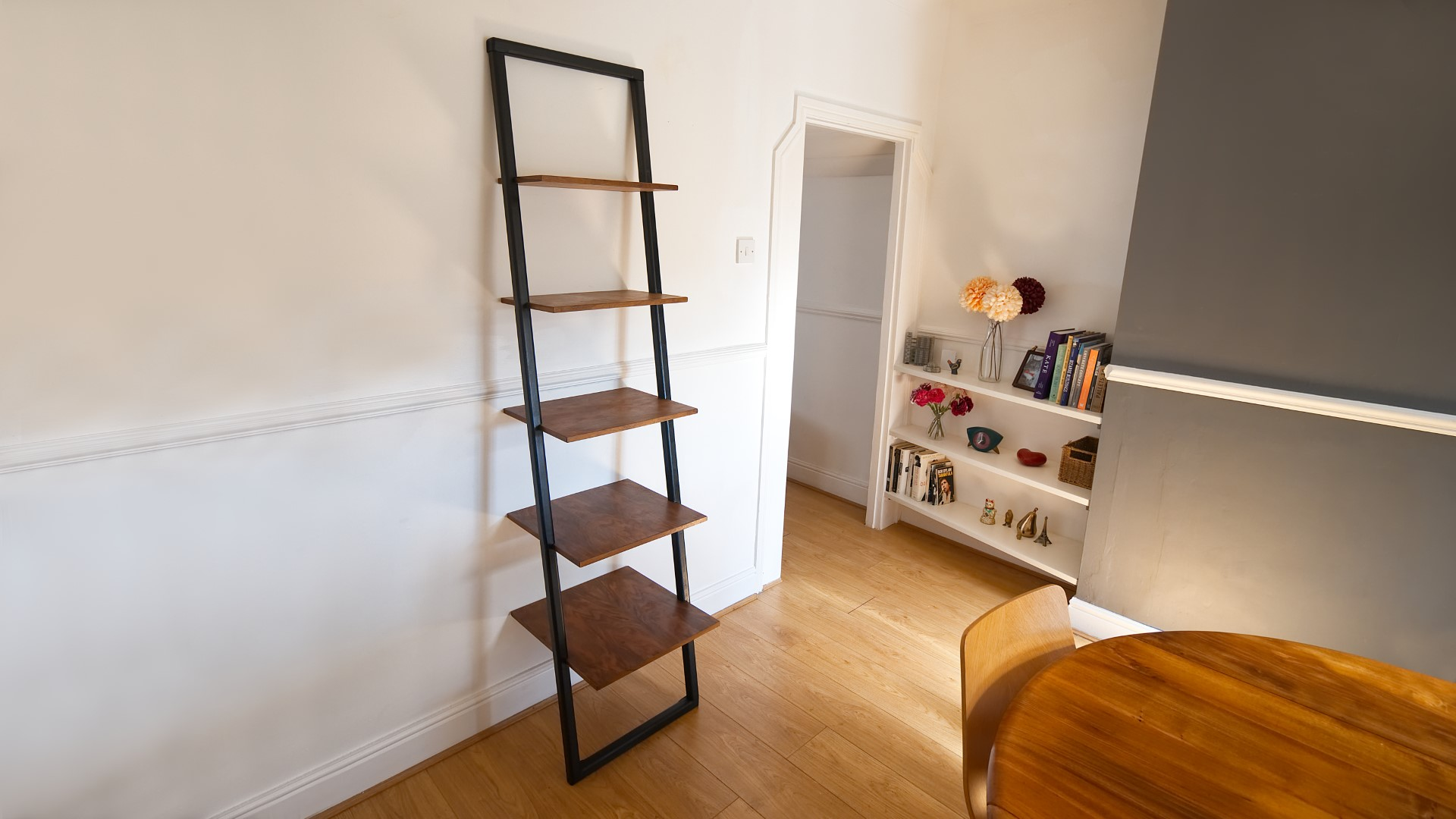 How To Make A Ladder Style Mid Century Shelving Unit Rag