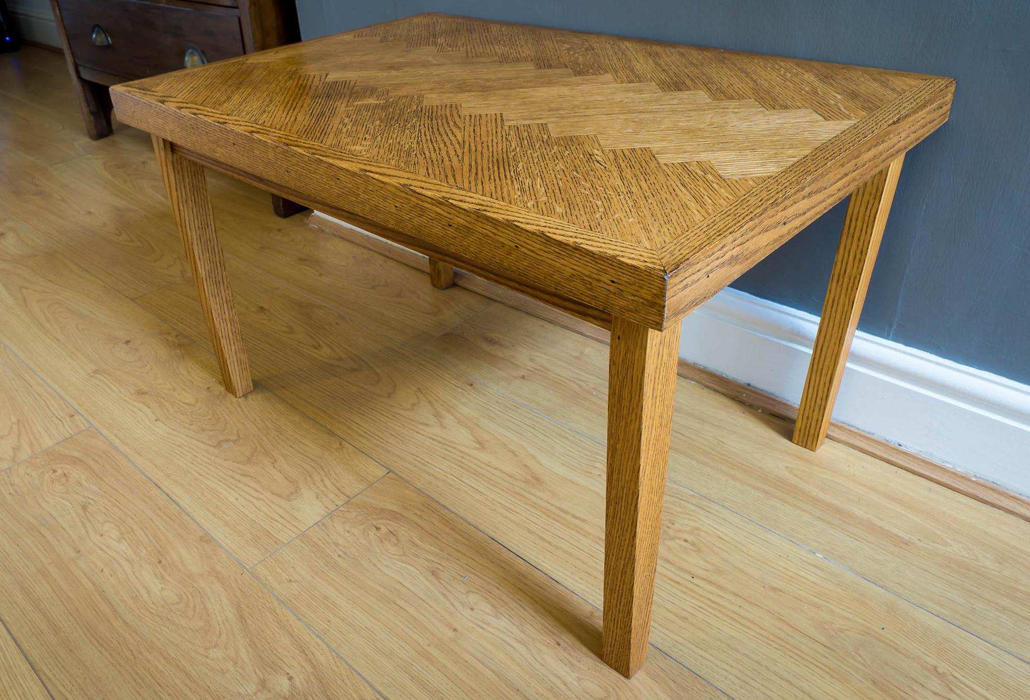 Making A Parquet Coffee Table Using Salvaged Oak Part 2 Of 2 Rag 39 N 39 Bone Brown