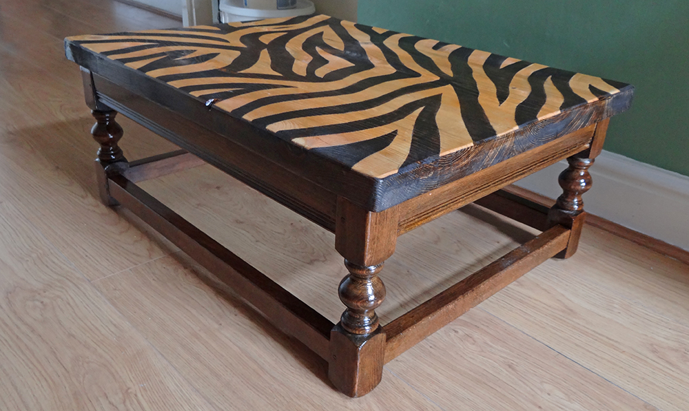Zebra Print Coffee Table Top